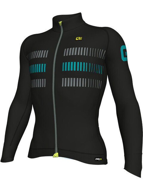 Alé Cycling PRR 2.0 Strada LS Jersey Men Black-Petrol Green